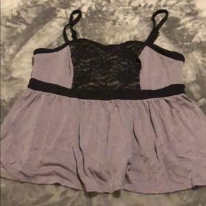 Cute Gray Torrid Tank Top 1X
